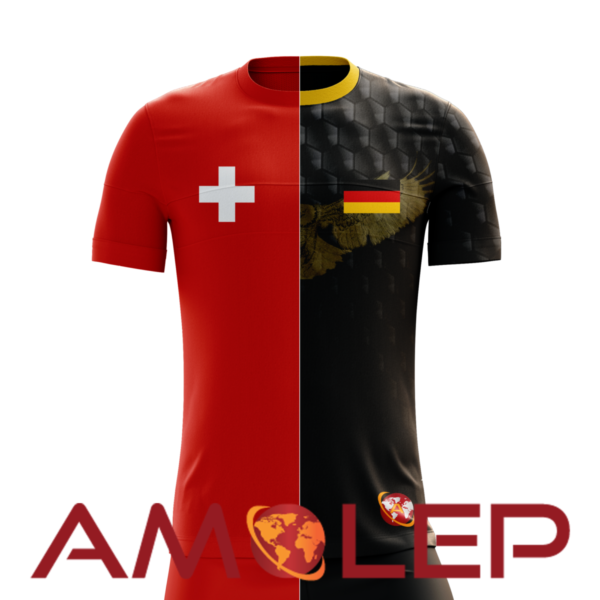 Half and Half Multinational Football Jersey