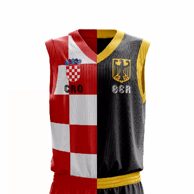 Half and Half Basketball Jersey