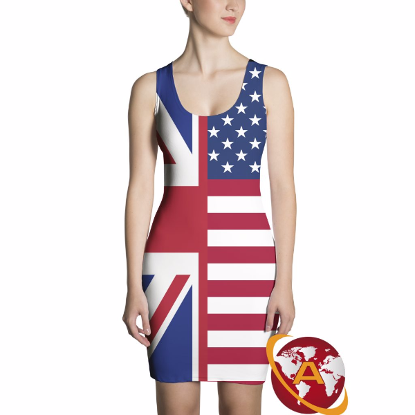 Half and Half Flag Dress