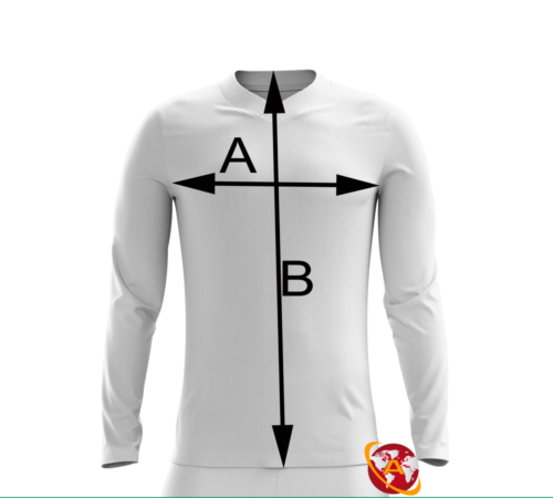 Longsleeve KTRX-Multinational Half and Half Football Jersey